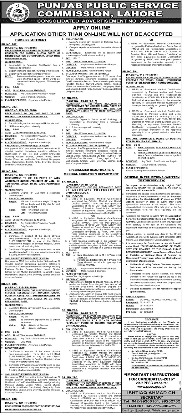 Public Service Commission Jobs PPSC Jobs