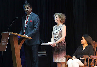Vijay Amitraj and Adrienne Loftus Parkins as masters of ceremony.