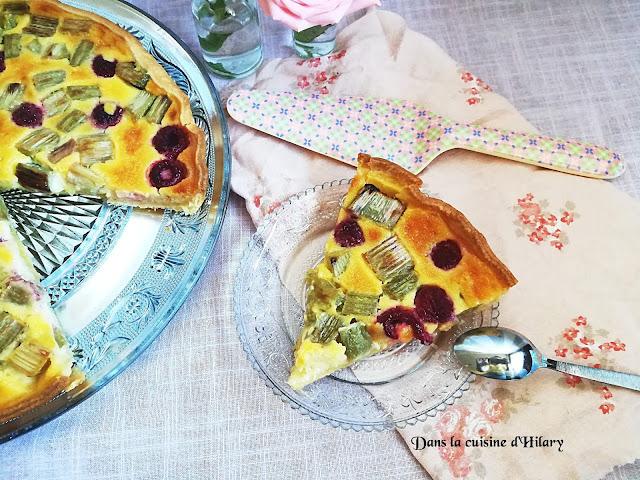 Tarte gourmande rhubarbe-framboise - Dans la cuisine d'Hilary