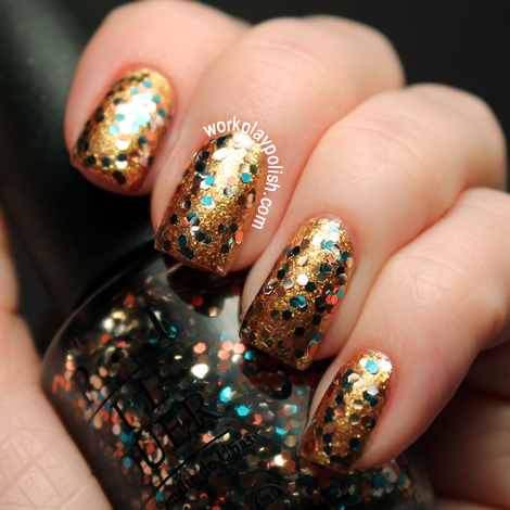 OPI 2012 Skyfall Collection: The Living Daylights over Goldeneye (work / play / polish)