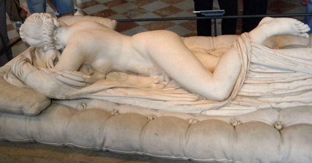 rzeźba, Luwr, Paryż, Hermafrodyta