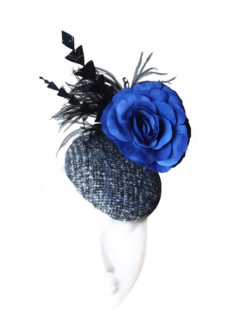 Tocado Negro y Azul