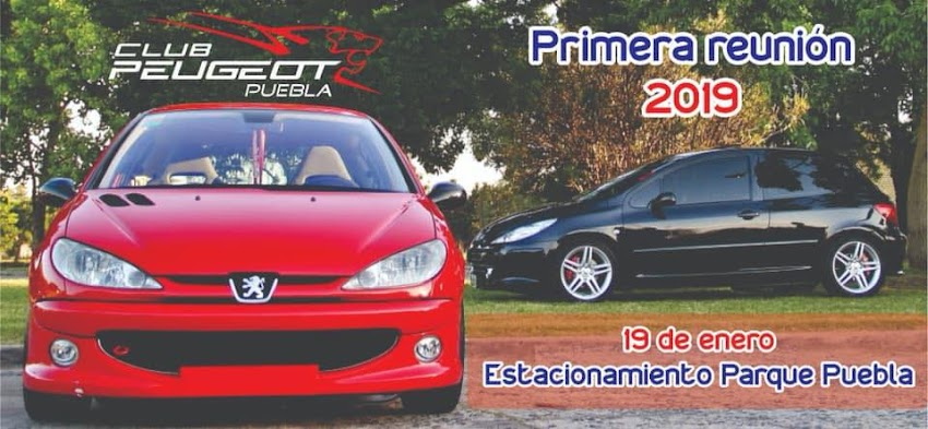 Primer reunion 2019 Club Peugeot Puebla