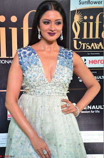Vimala Raman in a Deep Neck White Shaded Sleeveless Gown ~  Exclusive 25.JPG