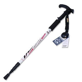 Hiking Adjustable Triarticular Aluminium Alloy Alpenstock