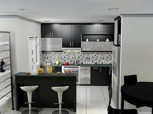 Desain ruangan dapur interior rumah minimalis