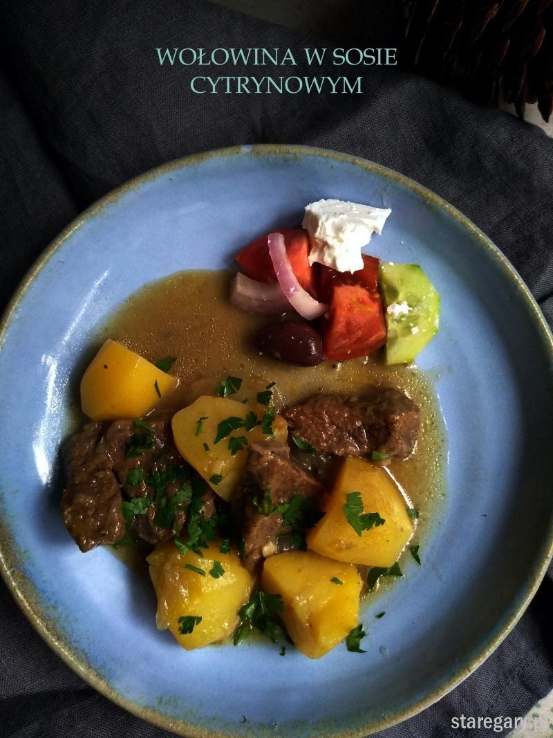 Wołowina w sosie cytrynowym
