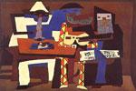 Tres músicos, pintura cubista de Picasso
