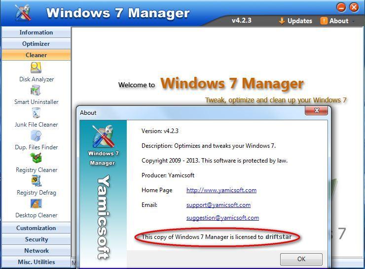 yamicsoft windows 7 manager serial