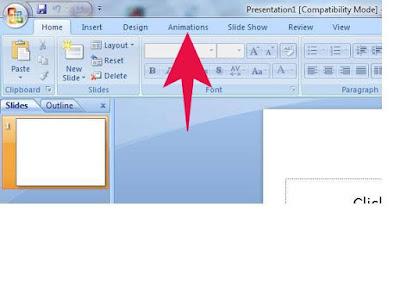 Fungsi Menu ANIMATIONS ( Tools Pada Microsoft Powerpoint )