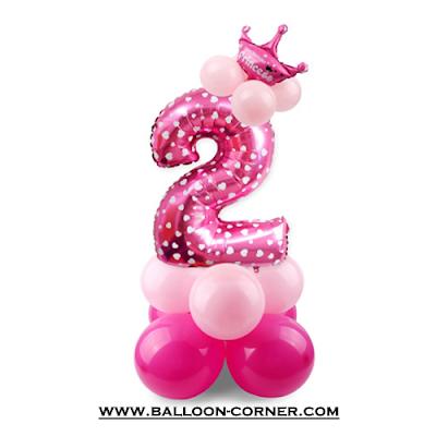 Ide Membuat Balon Tiang Sederhana Dari Balon Foil Angka Jumbo