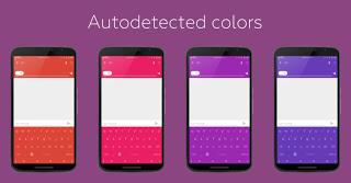 تغيير لون لوحة المفاتيح حسب التطبيق المفتوح