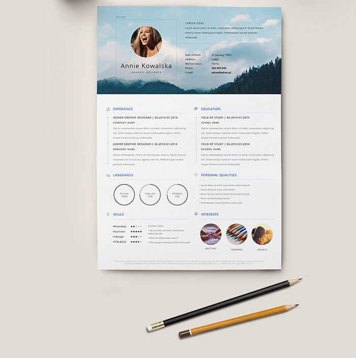 Free Minimalistic Resume/CV Template