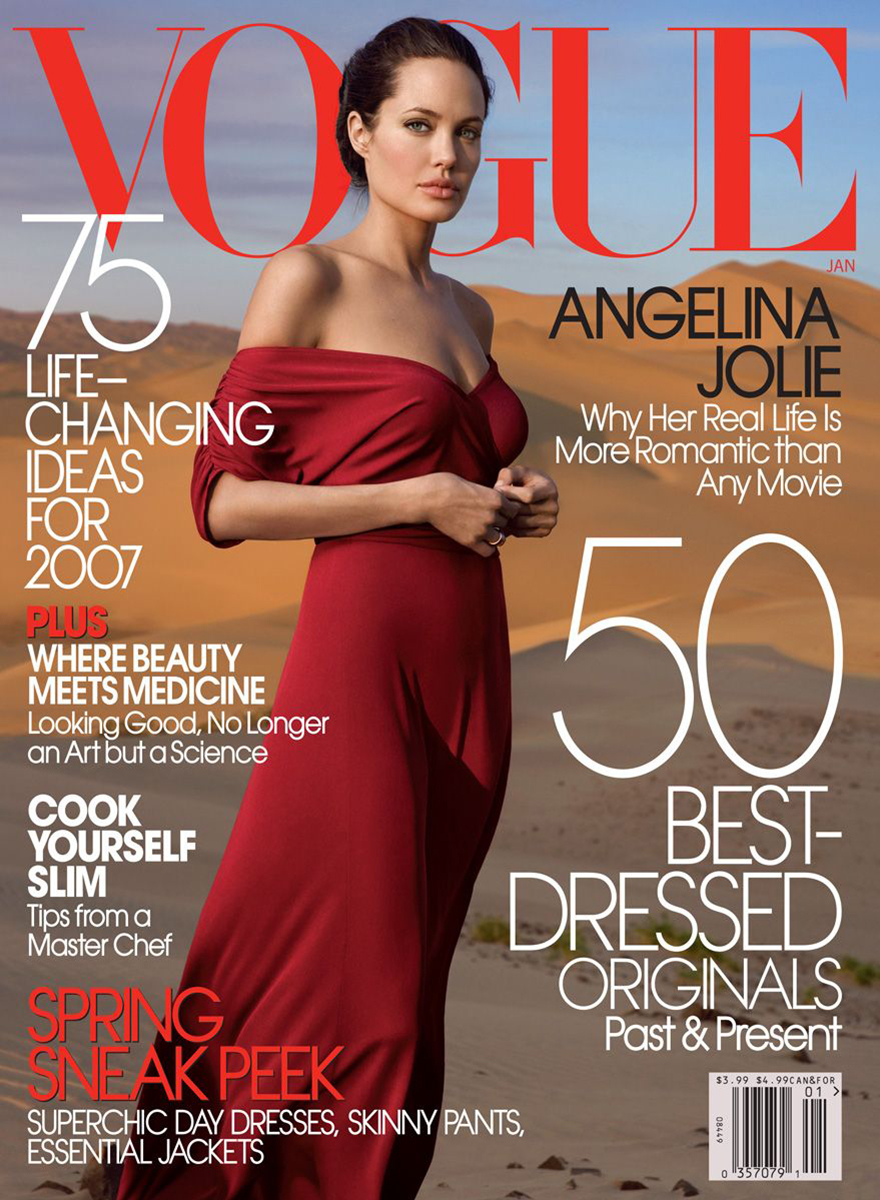 39 Lolas: Angelina Jolie by Annie Leibovitz Vogue US January