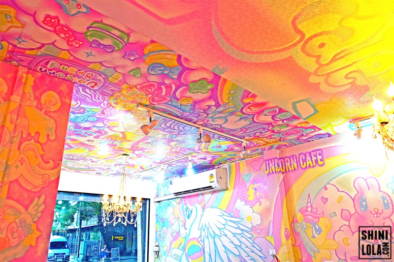 Interior of Unicorn Cafe