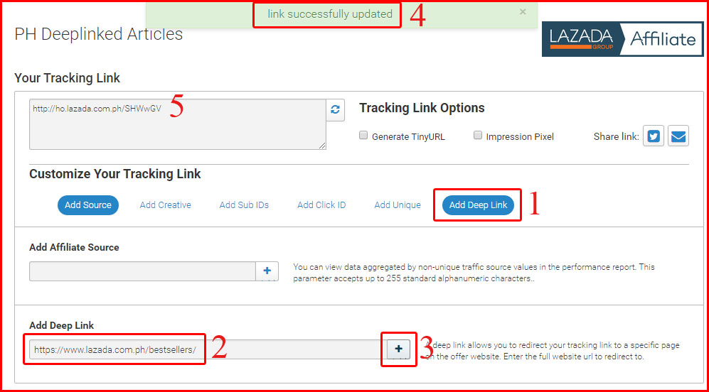 LAZADA AFFILIATE: Step by step guide on how to use Deeplink Ads