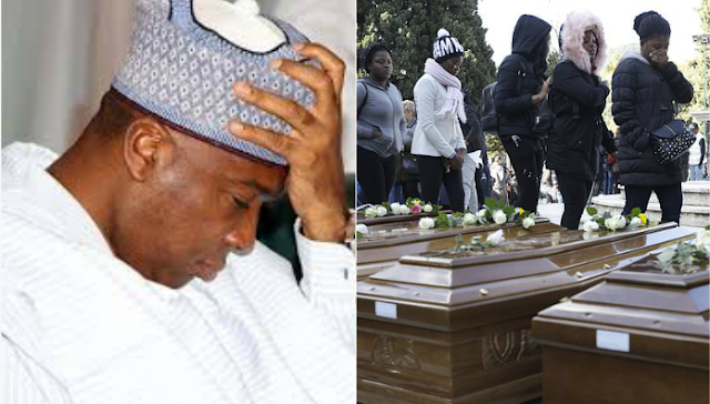 Senate Pres. Saraki`s reaction to the Italian government organizing the burial of 26 young Nigerian women drowned in the sea