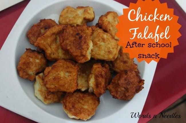 recipe toddler food after school snack chicken falafel