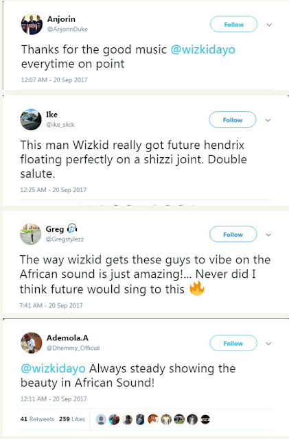 wp 1505905082067 - ENTERTAINMENT:  Tekno, Dj Spinall , Others React To Wizkid's New Track Featuring Atlanta rapper, Future