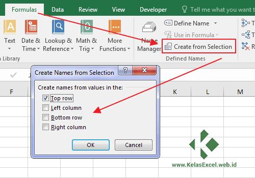 Langkah Memberi Nama Range Pada Excel 4