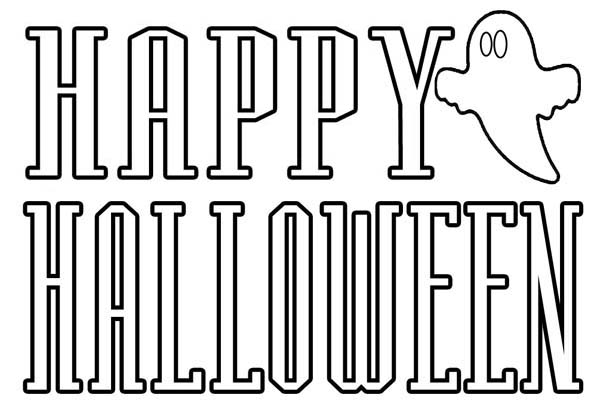 Coloring Pages That Say Happy Halloween