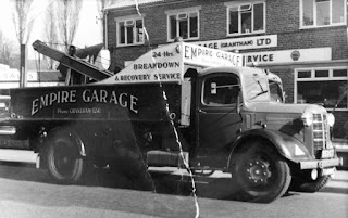 Empire Garage truck outside its premises on Brook Street in 1956. From Sam Ballaam