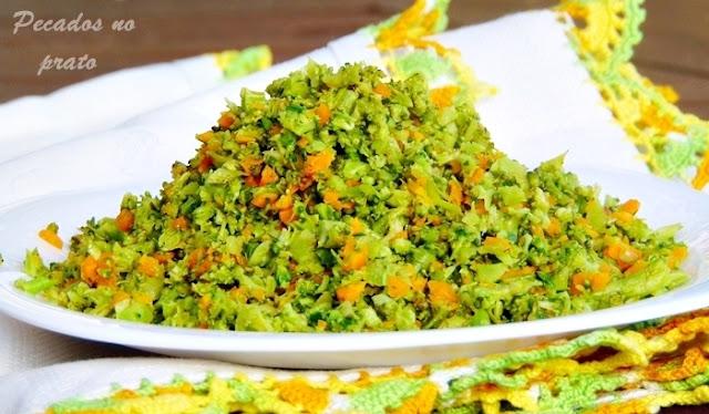 Arroz de brócolos gratinados