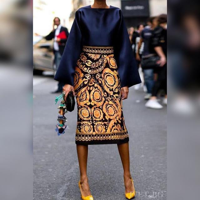 Ψηλόμεση μίντι μεσάτη φούστα ELVARY