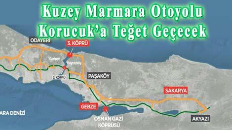 Kuzey Marmara Otoyolu Korucuk'a Teğet Geçecek