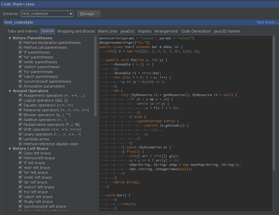 Milestones: How to make you own code formatting style with Intellij IDEA