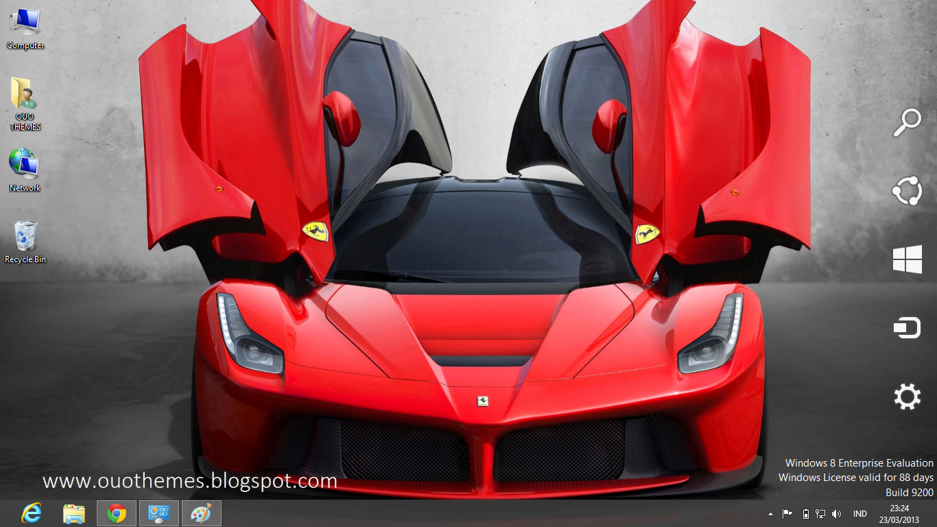Hot ferrari windows 8 theme.