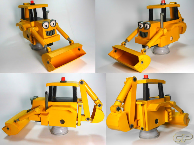 Scoop of Bob the Builder paper model no wheels
