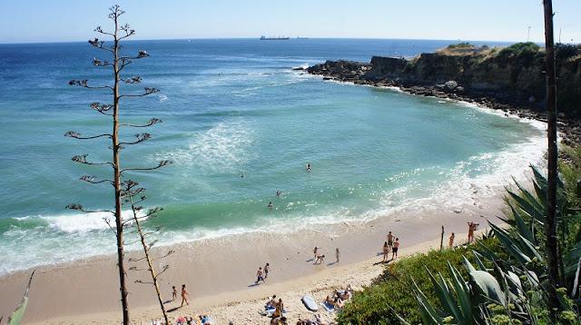 Praia de São Pdro do Estoril em Portugal