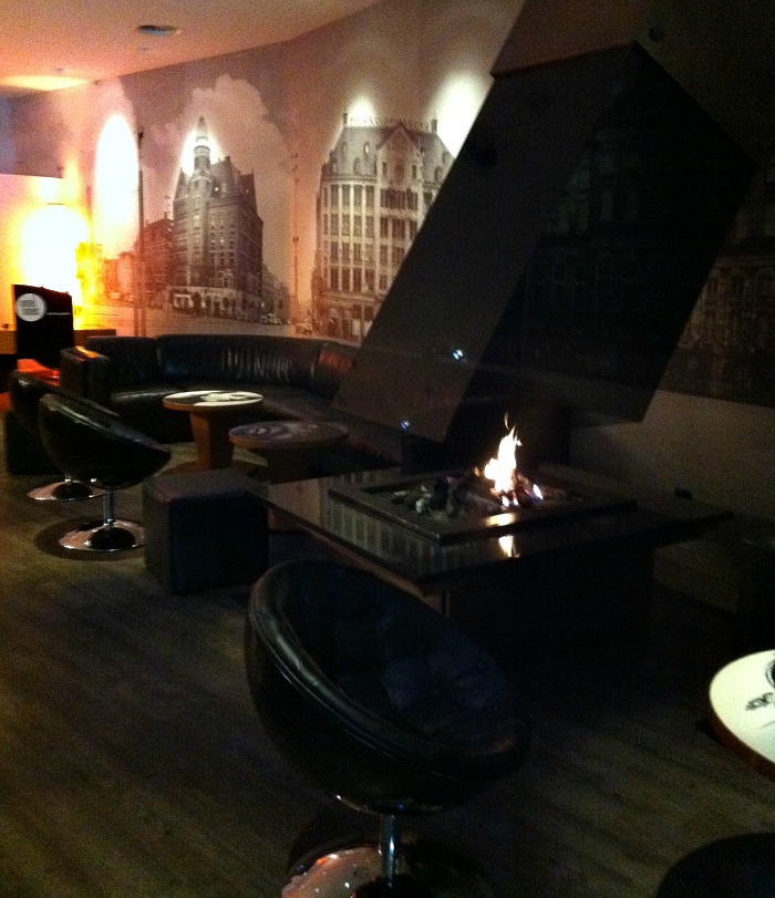 cosy fireplace area of Inntel Hotel
