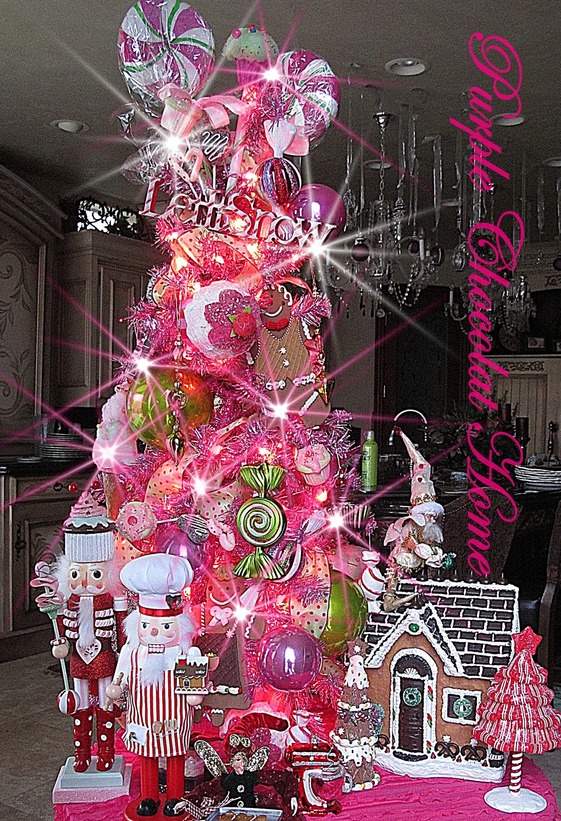 Visions Of Sugarplums Tree For My Kitchen Purple