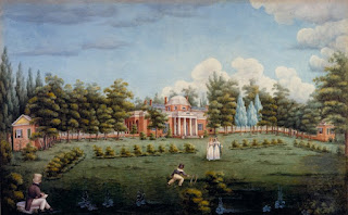 Monticello and Garden by Jane Peticolas 1825