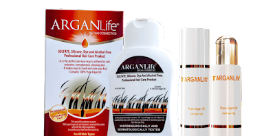 Arganlife's herbal hair care products