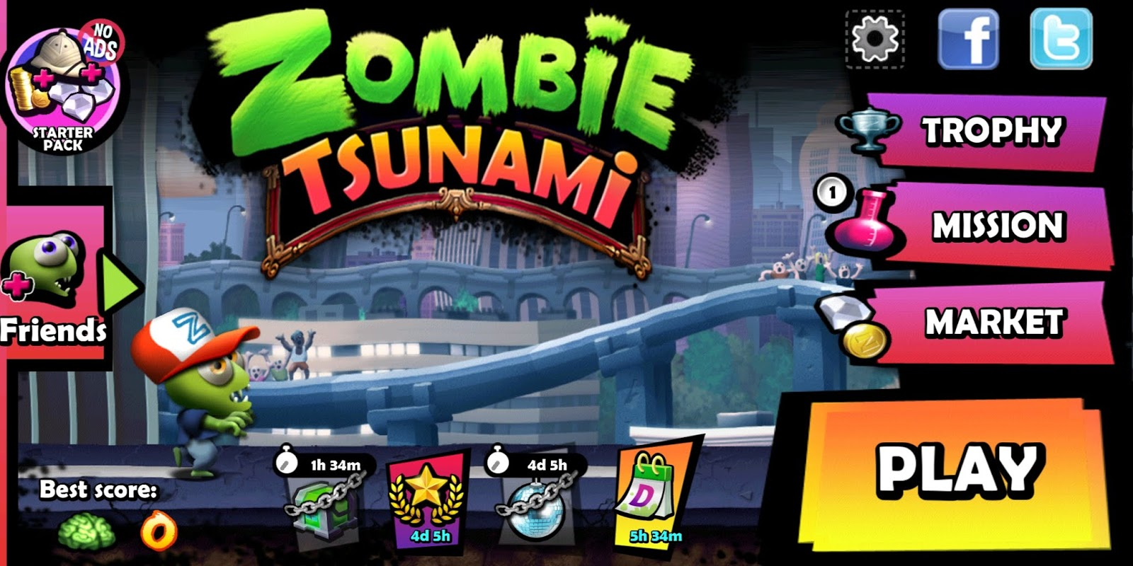 download game zombie tsunami mod android