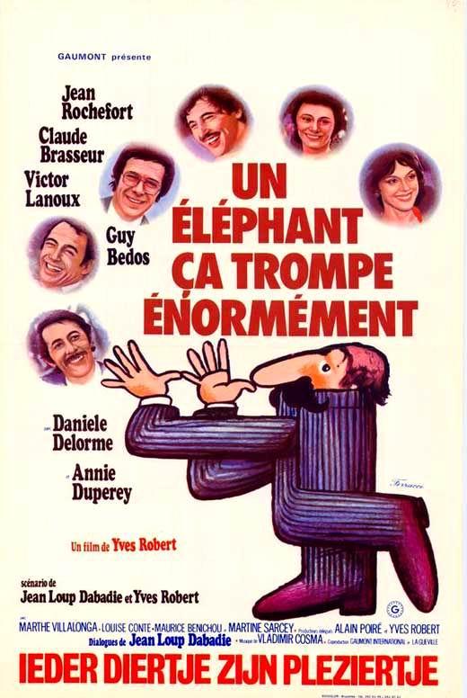 Un Elephant Ca Trompe Enormement : elephant, trompe, enormement, Affiches, Photos, D'exploitation, Bandes, Annonces:, éléphant, Trompe, énormément, (1976), Robert