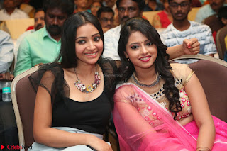 Geethanjali and Swetha Basu at Mixture Potlam Movie Audio Launch Feb 2017 015.JPG