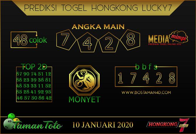 Prediksi Togel HONGKONG LUCKY 7 TAMAN TOTO 10 JANUARI 2020