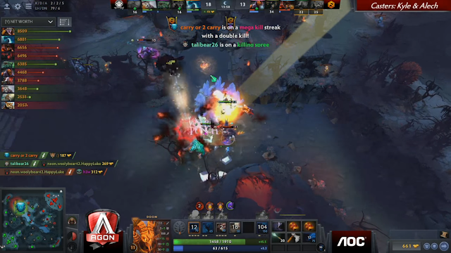 clash between team Execration and Neon Esports Games : Team Execration is your AGON DOTA 2 Invitationals Champion