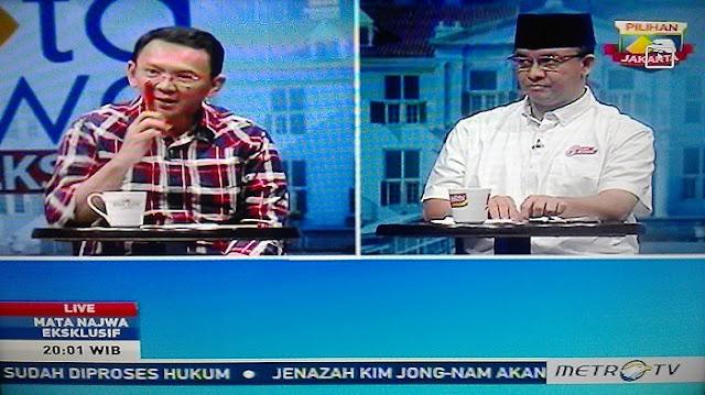 Debat Mata Najwa Babak Final Pilkada Jakarta, Metro TV, Senin (27/3/2017)