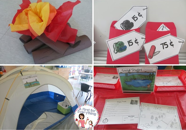 Engaging integrated and thematic camping unit for elementary classroom.