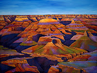 A landscape painting by Johnathan Harris, an artist from Canada