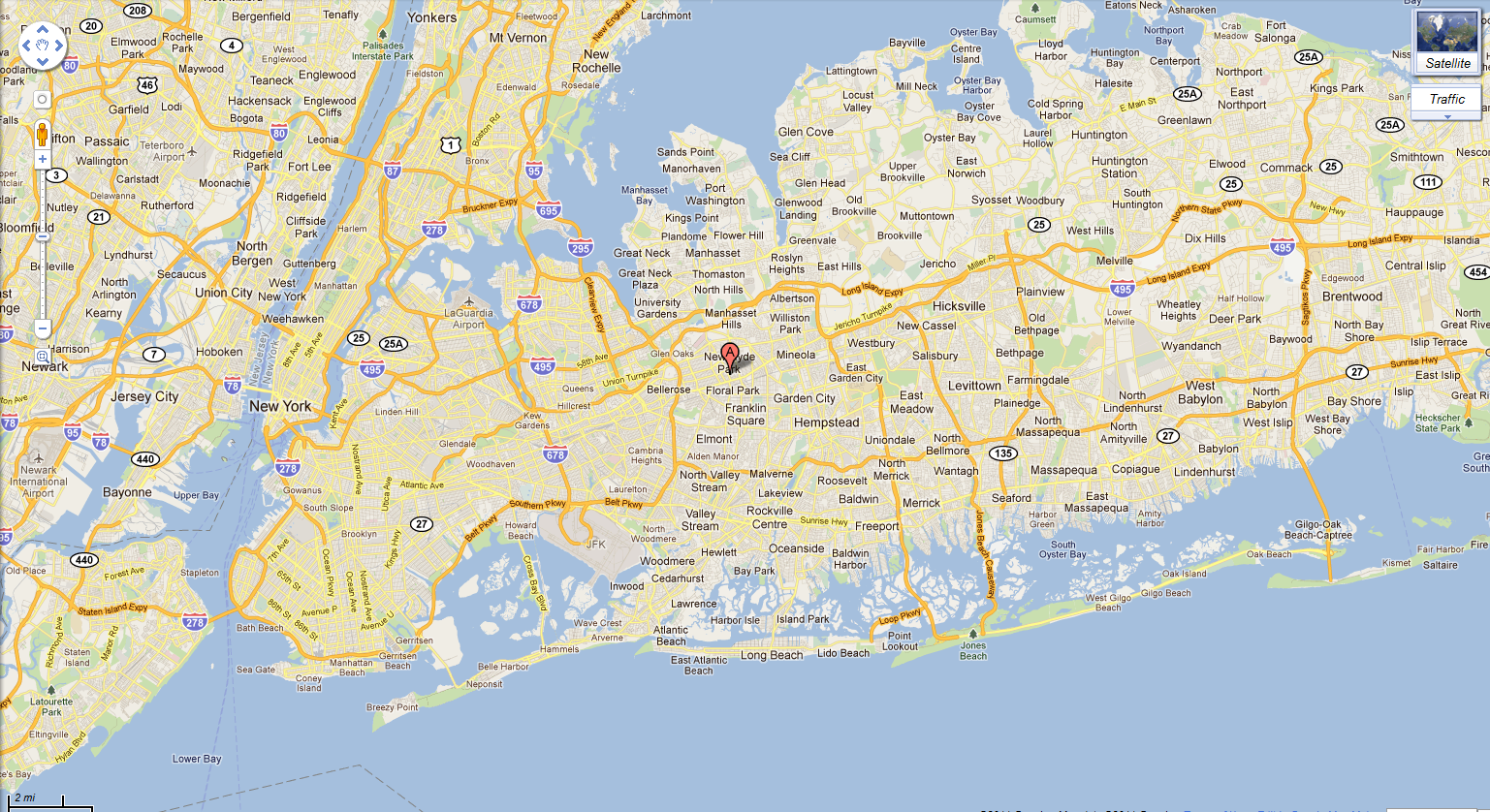 Long Island Ny Cities Map