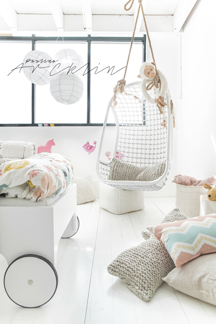 Rafa-kids WHITE toddler bed & Moshi Moshi Kids © Paulina Arcklin Photography + Styling