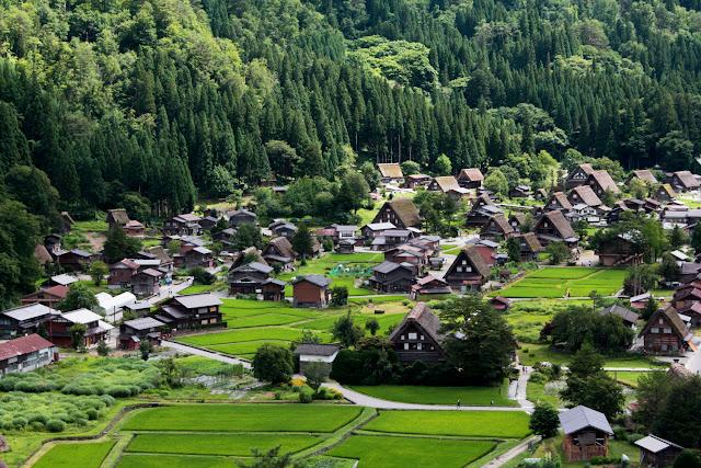 Panorámica de Shirakawa-go