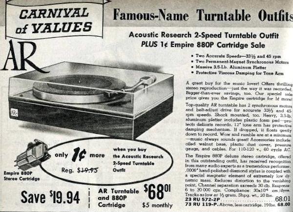 Vinyl Philosophy -: Vintage Advertisement - Acoustic Research