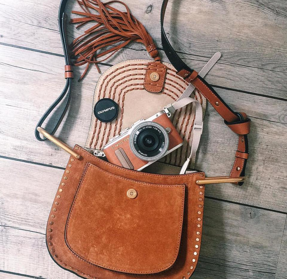 Olympus Pen E-PL8 in Brown and Chloe Hudson Bag